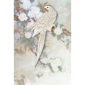 Kort 178x122 Crystal Collection, White Parrot