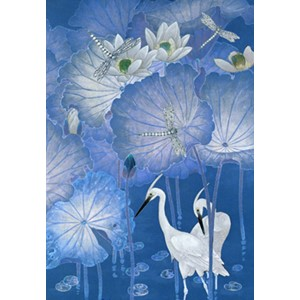 Kort 178x122 Crystal Collection, Two Herons