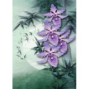 Kort 178x122 Crystal Collection, Purple Orchids