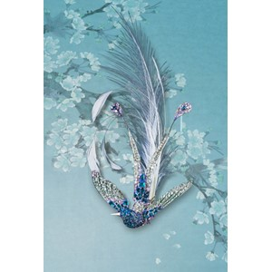 Kort 178x122 Crystal Collection, Bird of Paradise