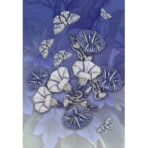 Kort 178x122 Crystal Collection, Morning Glory