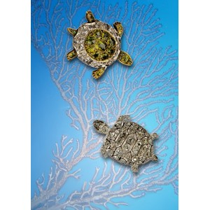 Kort 178x122 Crystal Collection, Jewelled Terrapins