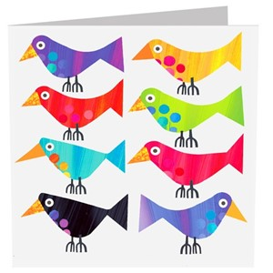 Doble kort 142x142, The Square Card Co, Long Birds