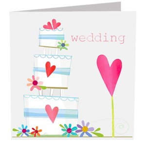 Doble kort 142x142, The Square Card Co, Wedding Cake