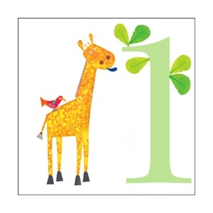 Doble kort 142x142, The Square Card Co, Giraffe  One