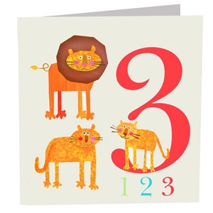Doble kort 142x142, The Square Card Co, Three Lions