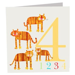 Doble kort 142x142, The Square Card Co, Four Tigers