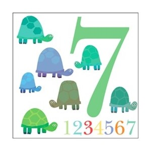 Doble kort 142x142, The Square Card Co, Seven Tortoises