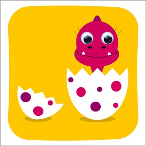 Doble kort 125x125, Wobbly Eyed, Dino-Daisy