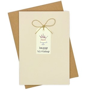 Doble kort, 105x152, Tag Cards, Birthday Cake