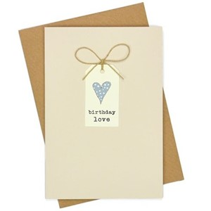 Doble kort, 105x152, Tag Cards, Hjerte/Birthday Love