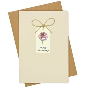 Doble kort, 105x152, Tag Cards, Dahlia Birthday