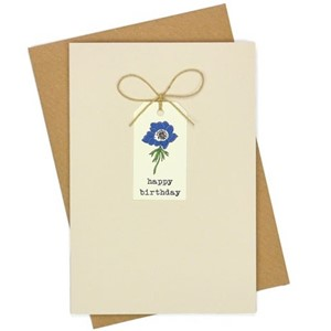 Doble kort, 105x152, Tag Cards, Anemones Birthday