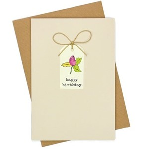 Doble kort, 105x152, Tag Cards, Rose Birthday