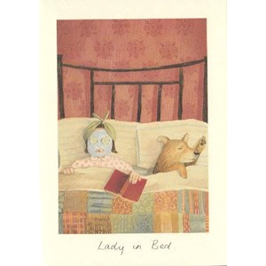 Kort Two Bad Mice: Lady in Bed