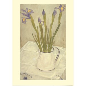 Kort Two Bad Mice: Irises in a white Jug