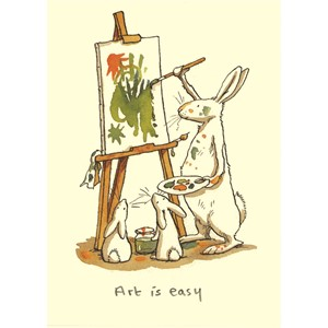 Kort Two Bad Mice: Art is easy