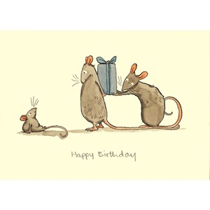 Kort Two Bad Mice: Happy Birthday